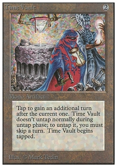 Magic the Gathering Unlimited Single Time Vault - MODERATE PLAY (MP)