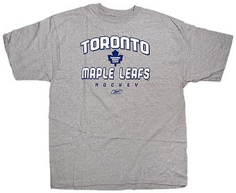 Toronto Maple Leafs Grey Reebok T-Shirt (Size Small)