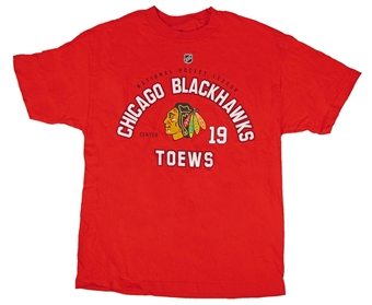 Chicago Blackhawks Reebok Red Toews #19 T-Shirt (Size XX-Large)