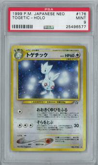 Pokemon Japanese Neo Genesis Togetic Holo Rare PSA 9
