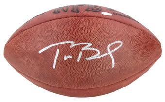 Tom Brady Autographed New England Patriots Authentic Duke Game Ball (Mounted Memories)