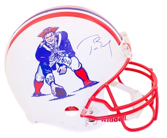Tom Brady Autographed New England Patriots On Field Authentic Full Size Helmet (Tristar)