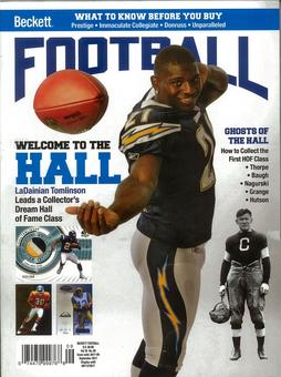 2017 Beckett Football Monthly Price Guide (#320 September) (LaDainian Tomlinson)