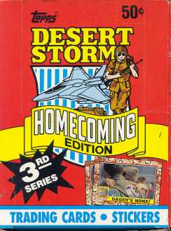Desert Storm 3rd Series Homecoming Box (1991 Topps)