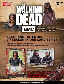 The Walking Dead Season 7 Trading Cards Hobby 8-Box Case (Topps 2017) (Presell)