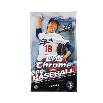 2016 Topps Chrome Baseball Hobby Pack