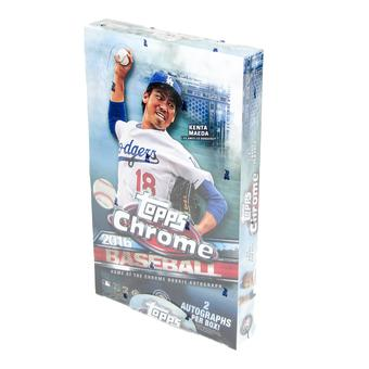2016 Topps Chrome Baseball Hobby Box