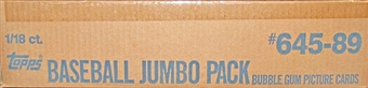 1989 Topps Baseball Jumbo 18 Pack Case