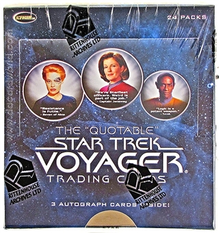 The Quotable Star Trek: Voyager Trading Cards Box (Rittenhouse 2012)