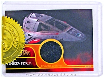 2012 The Quotable Star Trek Voyager #DF Delta Flyer (Outer Hull) Relic Card 3-Case Incentive