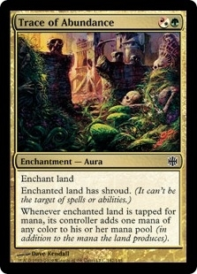 Magic the Gathering Alara Reborn Single Trace of Abundance Foil