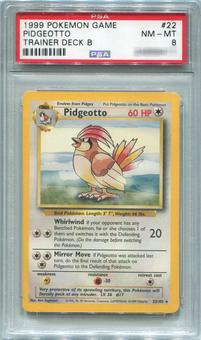 Pokemon Trainer Deck B Single Pidgeotto 22/102  -  PSA 8