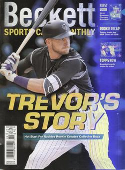 2016 Beckett Sports Card Monthly Price Guide (#375 June) (Trevor Story)