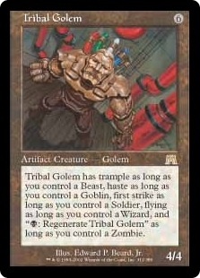 Magic the Gathering Onslaught Single Tribal Golem - NEAR MINT (NM)