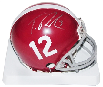 Trent Richardson Autographed Alabama Crimson Tide Football Mini-Helmet (Richardson COA)