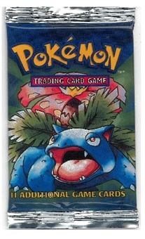 Pokemon Base Set 1 Trimmed Longpack Booster Pack - Venusaur Art