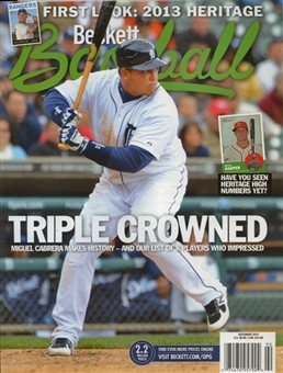 2012 Beckett Baseball Monthly Price Guide (#81 December) (Cabrera)