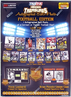 2011 TriStar Hidden Treasures Autographed 8x10 Football Hobby Box (10 Photos)