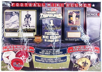 2010 TriStar Hidden Treasures Autographed Mini-Helmet Football Hobby Box