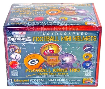 2012 TriStar Hidden Treasures Autographed Mini-Helmet Football Hobby Box