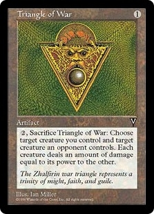 Magic the Gathering Visions Single Triangle of War - NEAR MINT (NM)