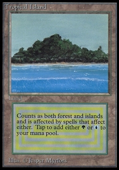 Magic the Gathering Beta International Collector's Edition Single Tropical Island (NEAR MINT)