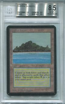 Magic the Gathering Alpha Single Tropical Island BGS 8.5 - STRONG SUBS