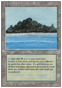 Magic the Gathering 3rd Ed (Revised) Single Tropical Island- NEAR MINT/SLIGHT PLAY