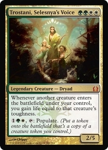 Magic the Gathering Return to Ravnica Single Trostani, Selesnya's Voice - NEAR MINT (NM)