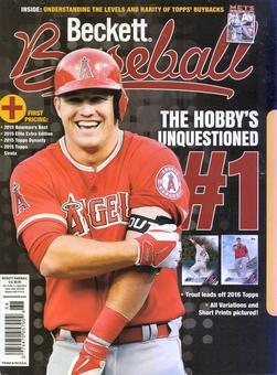 2016 Beckett Baseball Monthly Price Guide (#121 April) (Mike Trout)
