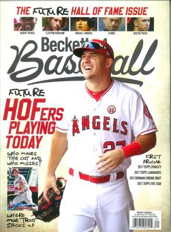 2017 Beckett Sports Card Monthly Price Guide (#387 June) (Mike Trout)