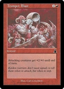 Magic the Gathering Urza's Destiny Single Trumpet Blast Foil