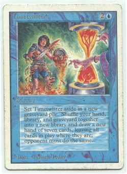 Magic the Gathering Unlimited Single Timetwister - MODERATE PLAY (MP)