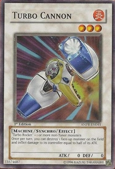 Yu-Gi-Oh Ancient Prophecy Single Turbo Cannon Super Rare