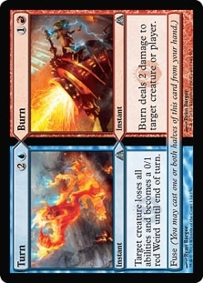 Magic the Gathering Dragon's Maze Single Turn - Burn - 4x Plaset - NEAR MINT (NM)