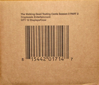 The Walking Dead Season 3 Part 2 Trading Cards 12-Box Case (Cryptozoic 2014)