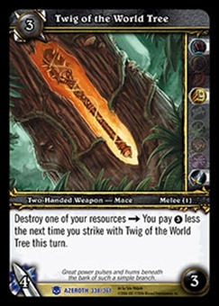 WoW Azeroth Single Twig of the World Tree (HoA-338) NM/MT