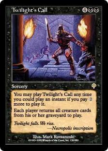 Magic the Gathering Invasion Single Twilight's Call - NEAR MINT (NM)