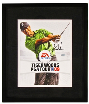 Tiger Woods Autographed EA Sports Framed 11x14 Photo (UDA)