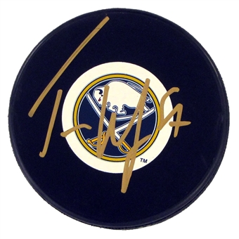 Tyler Myers Autographed Buffalo Sabres Hockey Puck