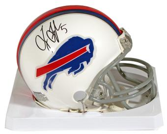 Tyrod Taylor Autographed Buffalo Bills Mini Football Helmet
