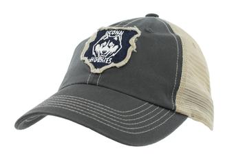 Connecticut Huskies Top Of The World Slated Gray Snapback Hat (Adult One Size)