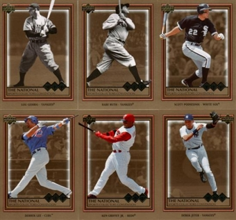2006 Upper Deck National VIP Exclusive Baseball Set w/ Ruth + Gehrig