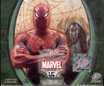 Vs System Marvel Web of Spiderman Booster Box