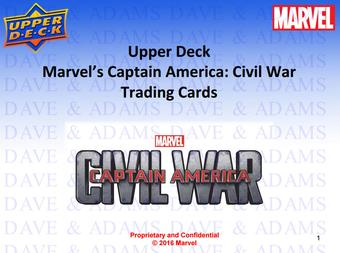Marvel Captain America: Civil War Trading Cards 12-Box Case (Upper Deck 2016) (Presell)