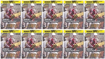 2014 Upper Deck Football 8-Pack Box (Lot of 10)