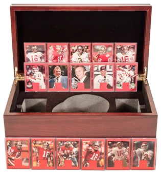 2000 Upper Deck Football Joe Montana Master Collection Base Set plus Commemorative Box