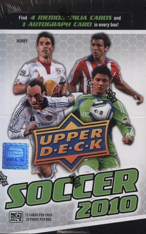 2010 Upper Deck Soccer Hobby Box