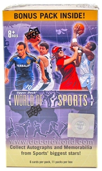 2011 Upper Deck World of Sports 11-Pack Box (10-Box Lot)