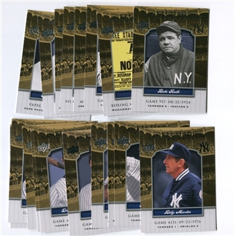 2008 Upper Deck Yankee Stadium Legacy Collection #5658 Derek Jeter
